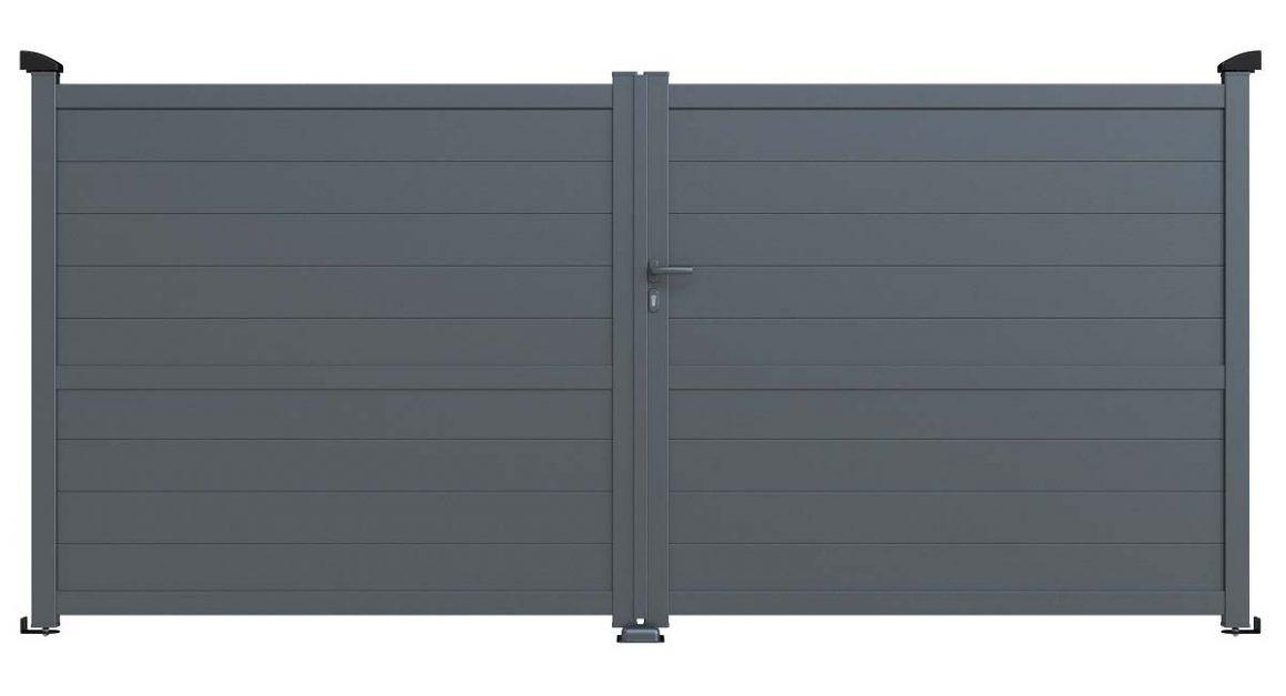 portail plein aluminium